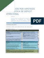 Evaluacion Por Hipotesis Diagnostic A de Deficit Atencional