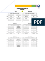 Cronograma de Competencia Ronda Preliminar Balonmano Lima 2019