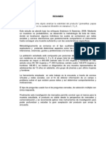 """Estudio de Mercado Para El Producto """"Granaditas Papas Rellenas Gourmet"""""""