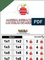 Material Interactivo de Las Tablas de Multiplicar