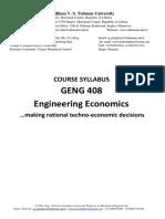 GENG 408 Engineering Economics Course Syllabus.pdf