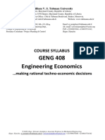 GENG 408 Engineering Economics Course Syllabus.pdf