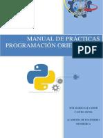 Manual de Prácticas Programacion Orientada a Objetos v1.0
