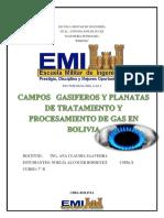 pozos y plantas de gas en bolivia