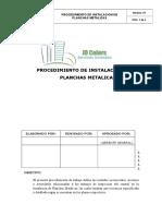 INSTALACIONES PLANCHAS METALICAS