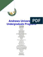 Andrews University Qualifying Graduate and Undergraduate Programs