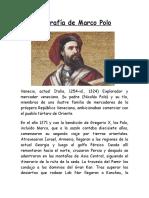 Biografía de Marco Polo