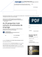As 20 Perguntas Mais Comuns Na Entrevista de Emprego _ Carreiras
