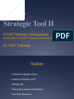 SM Wk 6 - Strategic Tools II