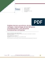 Análisis Técnico-económico de Las Ventajas y Desventajas de Las Lámparas Incandescentes y Las Lámparas