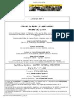 Impresión de Código de Pago