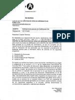 Rta Solicitud Certificación Como Centro de Instrucción Dic 2017