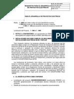 Requisitos Para El Desarrollo de Proyectos Electricos