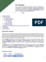 Sistema Educativo de Colombia