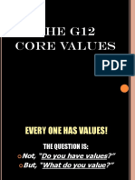 g12 Core Values