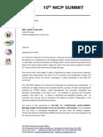 Fatima Integrated Farm School Invitation Letter 111218