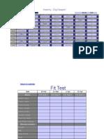 Insanity Workout Excel Worksheet