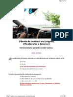 Preguntas 1 Examen teorico Licencia Conducir uruguay
