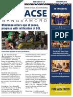 DELACSE Bangsamoro Phase 2 newsletter – February 2019 Issue