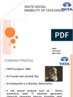 Monu Csr on Tata Group