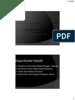 Kuliah 4 Pneumatik Dan Hidrolik Semester Genap 2012-2013 - Katup Kontrol Hidrolik