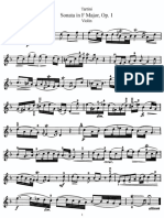 Tartini violin sonata in f major