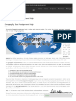 Geography Best Assignment Help