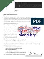 English Best Assignment Help