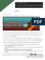 MATLAB Best Assignment Help