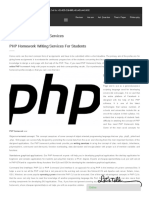 PHP Homework Writing Services