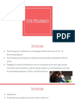 Teen Pregnancy Community Teaching PowerPoint