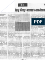 Philippine Daily Inaquirer, Chinese boats deny Pinoys access to sandbars.pdf