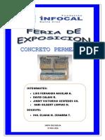 Informe Concreto Permeable