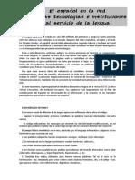 5 El Espac3b1ol en La Red Nuevas Tecnologc3adas e Instituciones Al Servicio de La Lengua