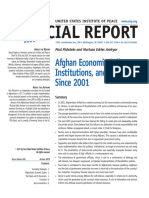 Afghabistan Economic Policy and Institutions
