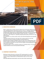 Plastic Pvc Pipe Production Business Plan for the OIP