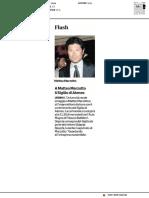 A Matteo Marzotto il Sigillo di Ateneo - Il Corriere Adriatico del 2 marzo 2019