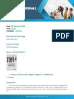 20190302001 Education & Psychology