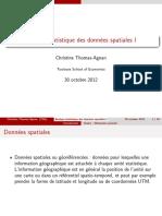 Analyse statistique des données spatiales I shared by Eugène Dongmo A.