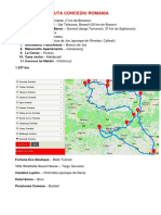 Ruta Concediu Romania