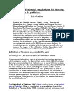 Ass Financial Regulation for leasing co.