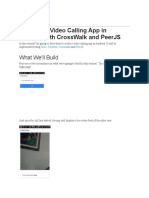 Android Video Calling With CrossWalk and PeerJS