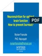 Neuronutrition for optimal brain function How to prevent burnout?