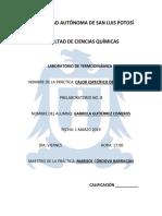 Prelaboratorio Termodinámica I Practica 3 GABRIELA GUTIERREZ CISNEROS
