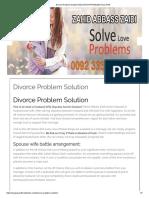 Divorce Problem Solution Education Problem Solution