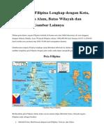 Peta Negara Filipina Lengkap Dengan Kota