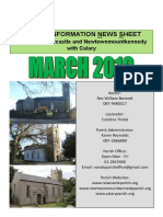 March 2019 News from the Parishes of Newcastle & Newtownmountkennedy with Calary, in east Co. Wicklow