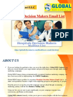 Hospitals Decision Makers Email List
