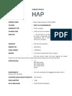 HAP company profile