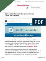 Formularios Preenchiveis No LibreOffice